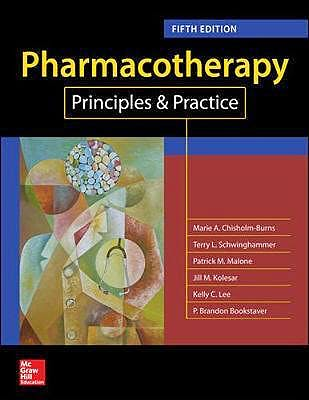 Portada del libro 9781260019445 Pharmacotherapy Principles and Practice