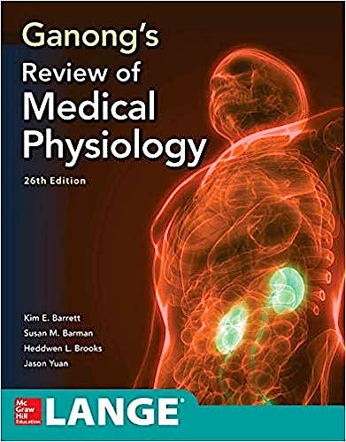 Portada del libro 9781260122404 Ganong's Review of Medical Physiology