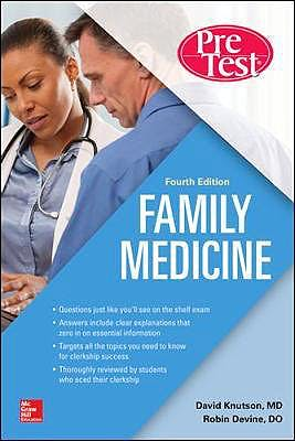 Portada del libro 9781260143584 Family Medicine PreTest Self-Assessment and Review