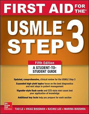 Portada del libro 9781260440317 First Aid for the USMLE Step 3