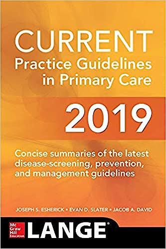 Portada del libro 9781260440577 CURRENT Practice Guidelines in Primary Care 2019