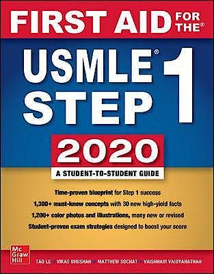 Portada del libro 9781260462043 First Aid for the USMLE Step 1 2020