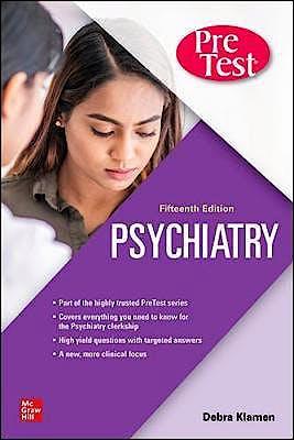 Portada del libro 9781260467413 Psychiatry PreTest Self-Assessment And Review