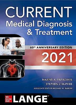 Portada del libro 9781260469868 CURRENT Medical Diagnosis and Treatment 2021. LANGE