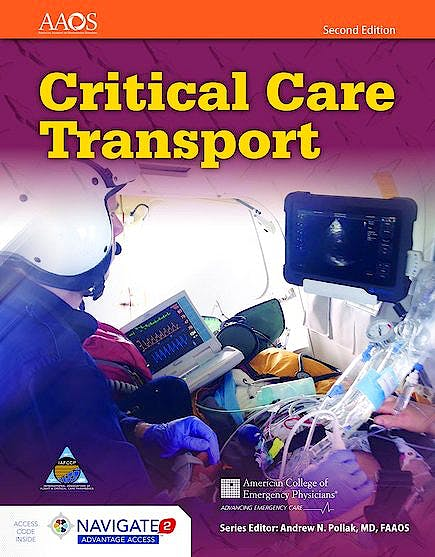 Portada del libro 9781284040999 Critical Care Transport (Includes Navigate 2 Advantage Access)