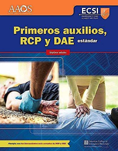 Portada del libro 9781284158977 Primeros Auxilios, RCP Y DAE Estándar