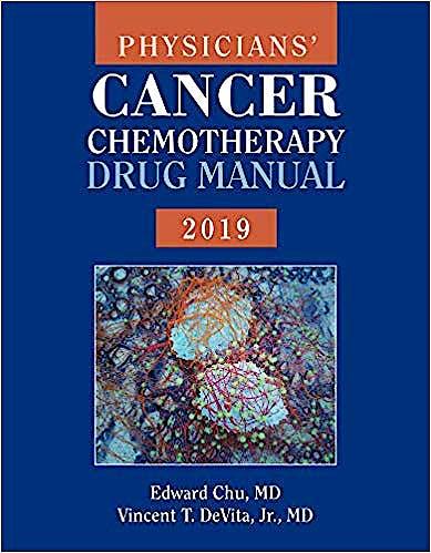 Portada del libro 9781284168471 Physicians' Cancer Chemotherapy Drug Manual 2019