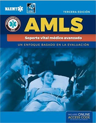 Portada del libro 9781284241488 AMLS Soporte Vital Médico Avanzado. Un Enfoque Basado en la Evaluación