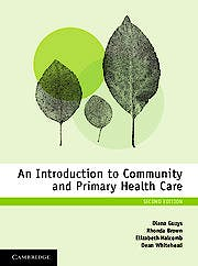 Portada del libro 9781316618127 An Introduction to Community and Primary Health Care