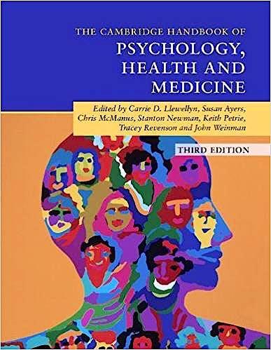 Portada del libro 9781316625873 Cambridge Handbook of Psychology, Health and Medicine