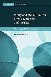 Portada del libro 9781316632253 Merry and Mccall Smith's Errors, Medicine and the Law