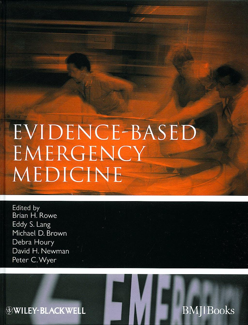 Portada del libro 9781405161435 Evidence-Based Emergency Medicine
