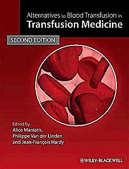 Portada del libro 9781405163217 Alternatives to Blood Transfusion in Transfusion Medicine