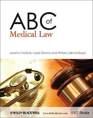 Portada del libro 9781405176286 Abc of Medical Law
