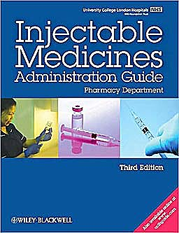 Portada del libro 9781405191920 Ucl Hospitals Injectable Medicines Administration Guide
