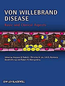 Portada del libro 9781405195126 Von Willebrand Disease. Basic and Clinical Aspects