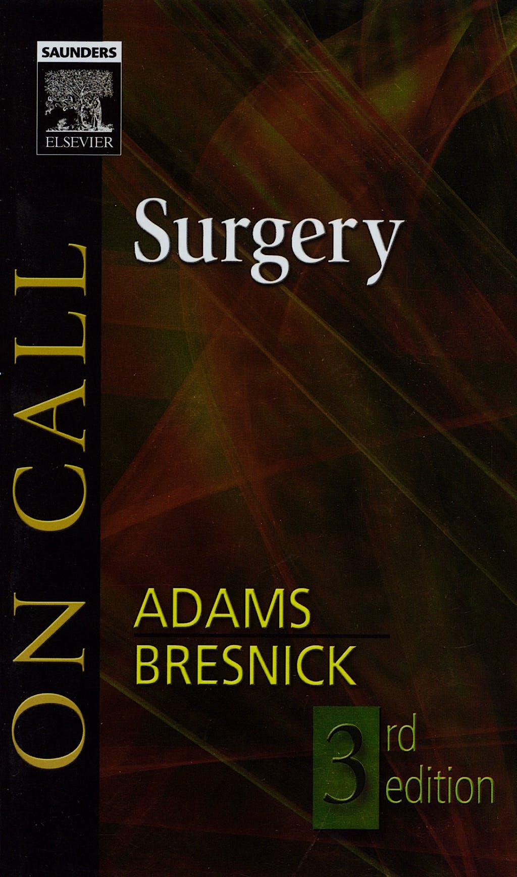 Portada del libro 9781416024415 On Call Surgery