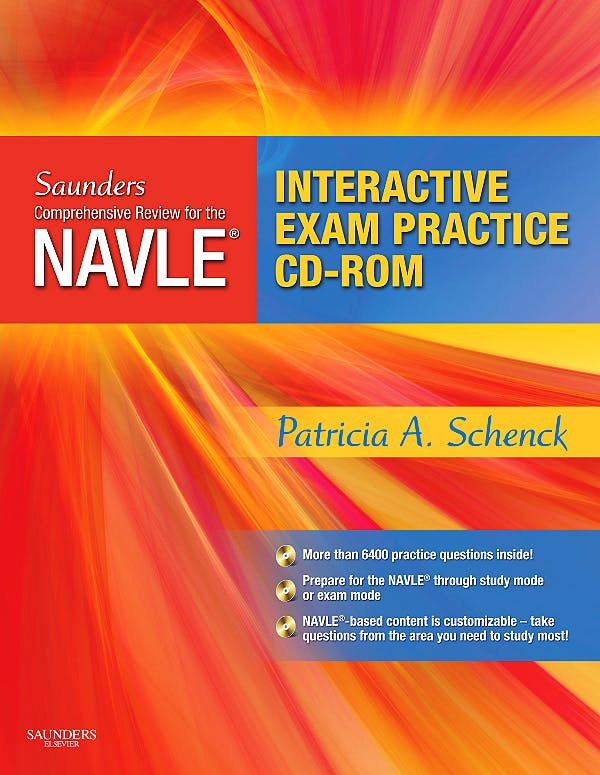Portada del libro 9781416029281 Saunders Comprehensive Review for the Navle® Board Review and Exam Practice Package + Cd-Rom