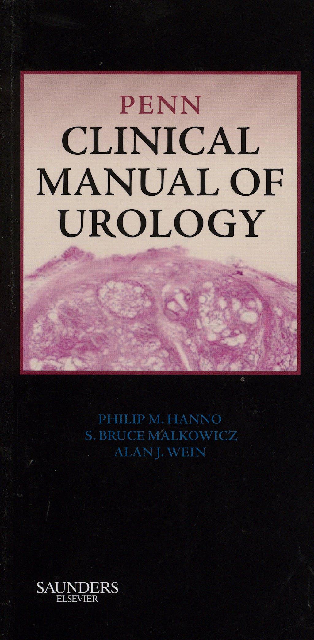 Portada del libro 9781416038481 Penn Clinical Manual of Urology