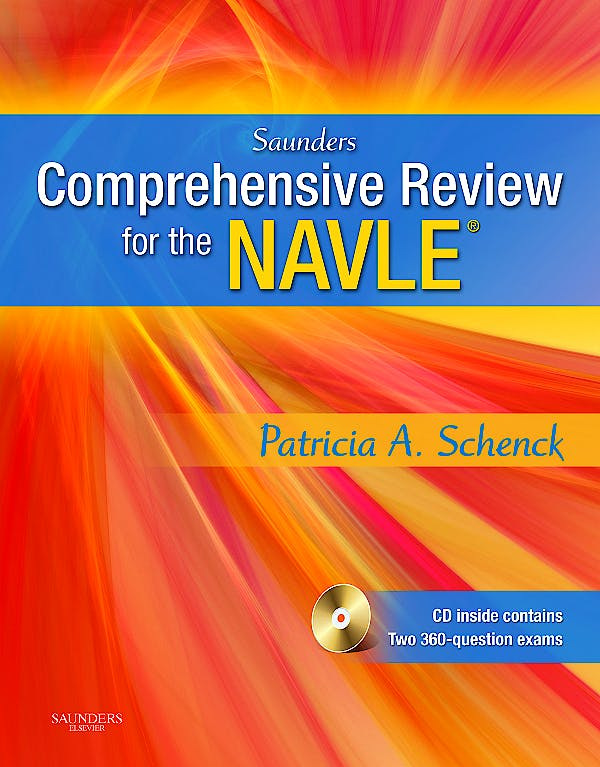 Portada del libro 9781416054016 Saunders Comprehensive Review for the Navle. Text and Veterinary Consult Package + Cd-Rom