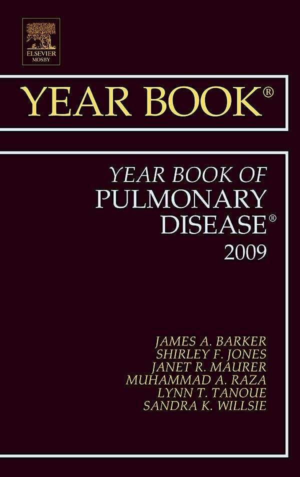 Portada del libro 9781416057291 Year Book of Pulmonary Disease 2009