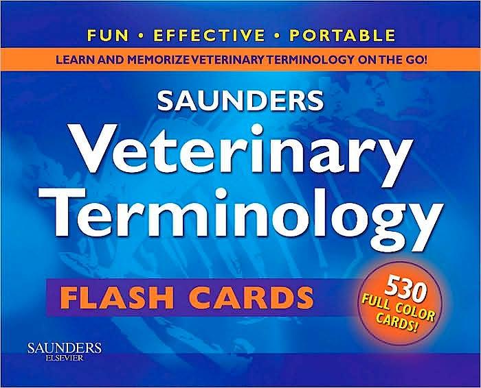Portada del libro 9781416061380 Saunders Veterinary Terminology Flash Cards Volume