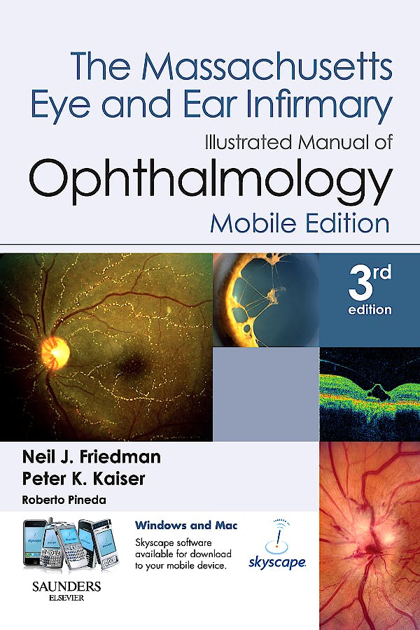 Portada del libro 9781416061755 The Massachusetts Eye and Ear Infirmary. Illustrated Manual of Ophthalmology, Mobile Edition (Book with Pda Download)