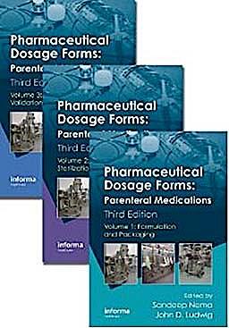 Portada del libro 9781420086539 Pharmaceutical Dosage Forms: Parenteral Medications, 3 Vols.