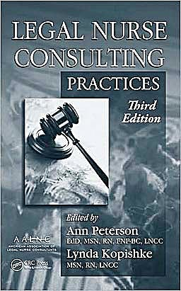 Portada del libro 9781420089479 Legal Nurse Consulting: Principles and Practices  (2 Volume Set)