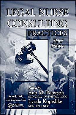 Portada del libro 9781420089486 Legal Nurse Consulting Practices