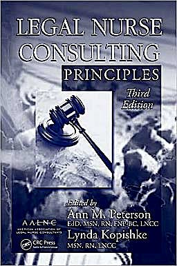 Portada del libro 9781420089516 Legal Nurse Consulting Principles