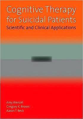 Portada del libro 9781433804076 Cognitive Therapy for Suicidal Patients