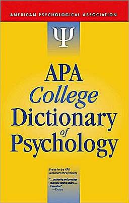 Portada del libro 9781433804335 APA College Dictionary of Psychology