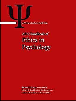 Portada del libro 9781433810008 APA Handbook of Ethics in Psychology, 2 Vols. (APA Handbooks in Psychology)