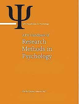 Portada del libro 9781433810039 APA Handbook of Research Methods in Psychology, 3 Vols. (APA Handbooks in Psychology)