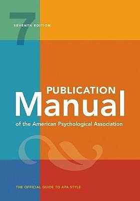 Portada del libro 9781433832161 Publication Manual of the American Psychological Association (Softcover)