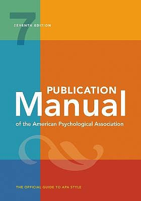 Portada del libro 9781433832178 Publication Manual of the American Psychological Association (Spiral Bound)