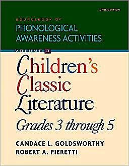 Portada del libro 9781435489226 Sourcebook of Phonological Awareness Activities, Volume Iii Children's Classic: Literature, Grades 3 to 5