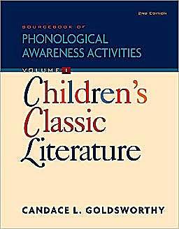 Portada del libro 9781435492998 Sourcebook of Phonological Awareness Activities, Volume I: Children's Classic Literature
