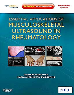 Portada del libro 9781437701272 Essential Applications of Musculoskeletal Ultrasound in Rheumatology Premium Edition (Online and Print)