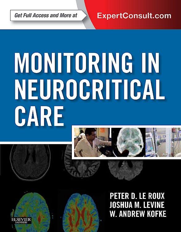 Portada del libro 9781437701678 Monitoring in Neurocritical Care (Online and Print)