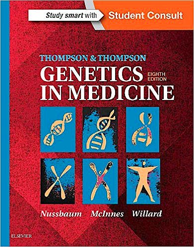 Portada del libro 9781437706963 Thompson and Thompson Genetics in Medicine + Online Access