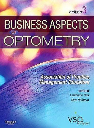 Portada del libro 9781437715866 Business Aspects of Optometry