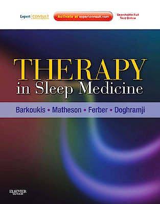 Portada del libro 9781437717037 Therapy in Sleep Medicine (Online and Print)
