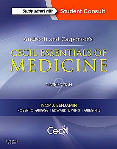Portada del libro 9781437718997 Andreoli and Carpenter's Cecil Essentials of Medicine + Online Access