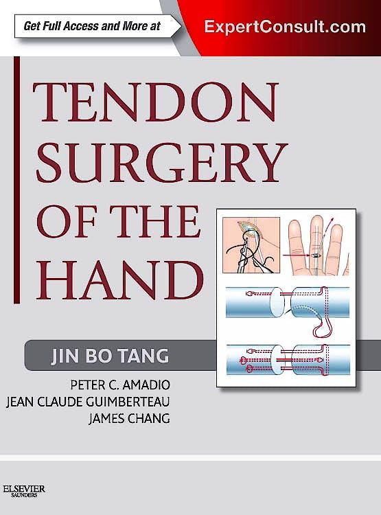 Portada del libro 9781437722307 Tendon Surgery of the Hand (Online and Print)