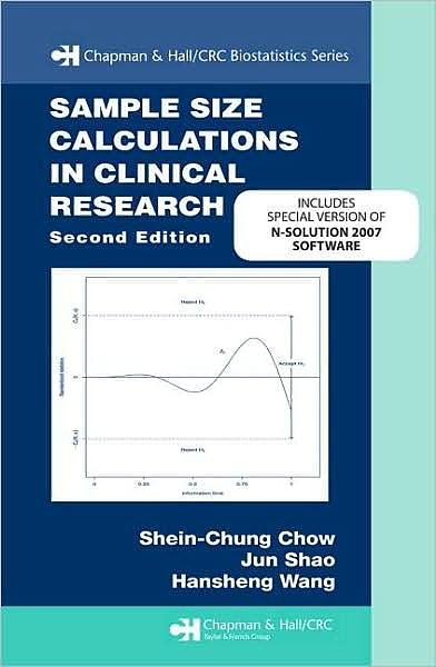 Portada del libro 9781439813591 Sample Size Calculations in Clinical Research. N-Solution Bundle Version + Cd