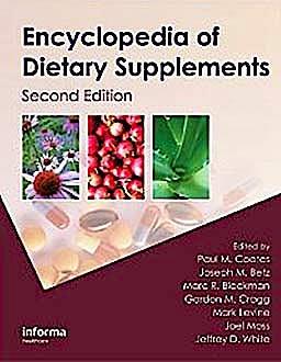 Portada del libro 9781439819289 Encyclopedia of Dietary Supplements