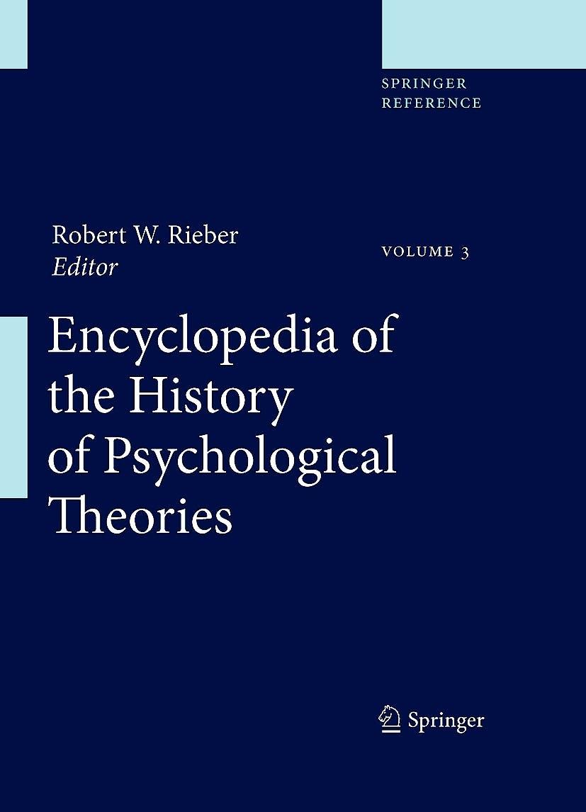 Portada del libro 9781441904645 Encyclopedia of the History of Psychological Theories, 2 Vols. + Online Access