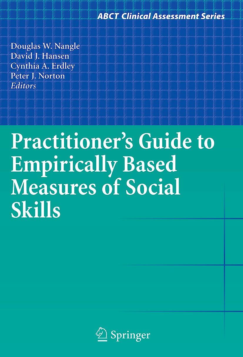 Portada del libro 9781441906083 Practitioner's Guide to Empirically Based Measures of Social Skills